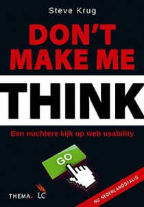 Don't make me think boek over usability van Steve Krug