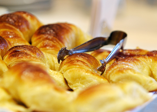 Knapperige croissants aankoopemotie