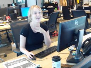 schrijfgewoontes Marleen op werkplek